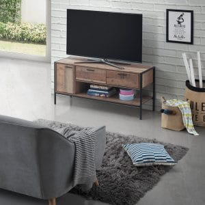 Stretton TV Cabinet Rustic Oak Effect